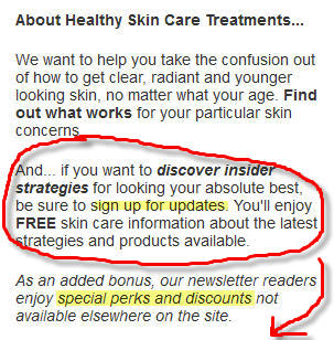 About Healthy Skin Care Treatments & Healthy Skin Update Newsletter